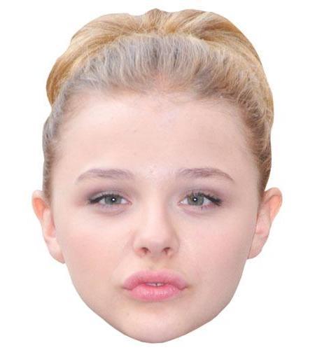 A Cardboard Celebrity Big Head of Chloe Moretz