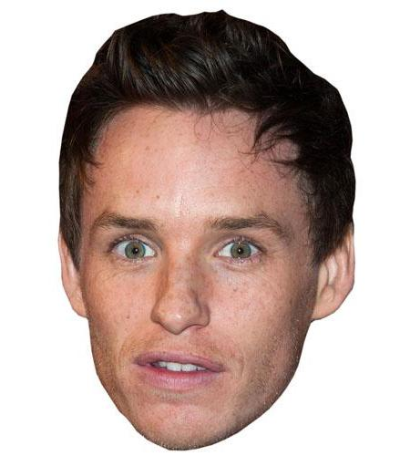 A Cardboard Celebrity Big Head of Eddie Redmayne