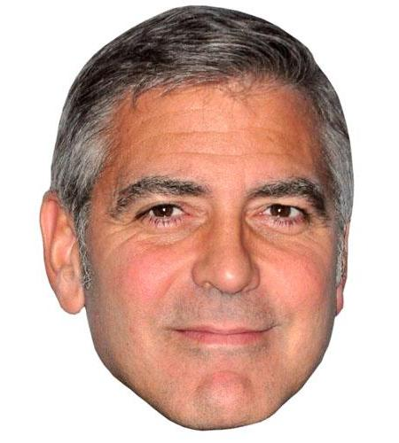A Cardboard Celebrity Big Head of George Clooney