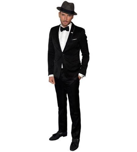 A Lifesize Cardboard Cutout of Matt Goss wearing a hat