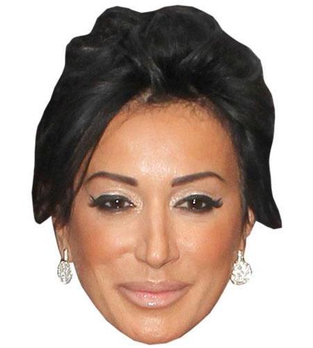 A Cardboard Celebrity Big Head of Nancy Dell'olio