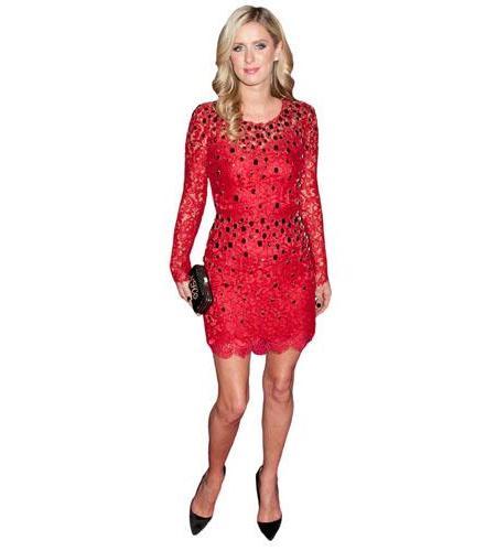 A Lifesize Cardboard Cutout of Nicky Hilton wearing a red dress
