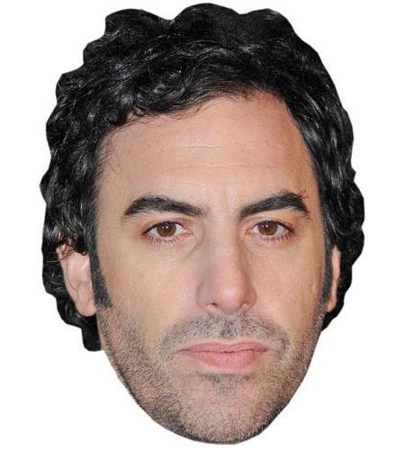 A Cardboard Celebrity Big Head of Sacha Baron Cohen