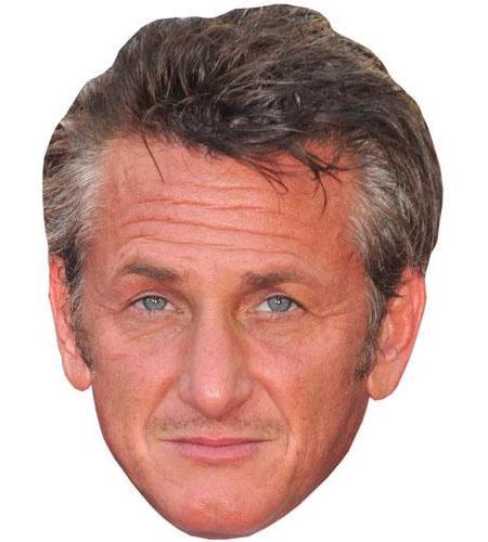 A Cardboard Celebrity Big Head of Sean Penn