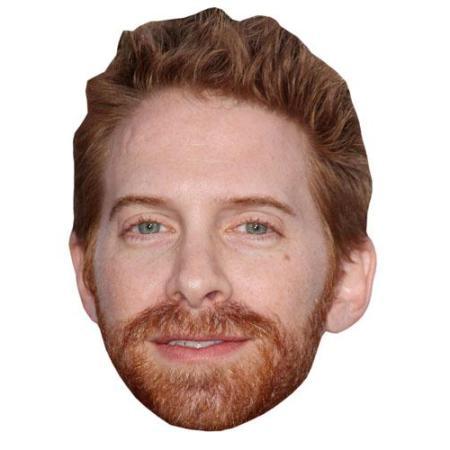 A Cardboard Celebrity Big Head of Seth Greene