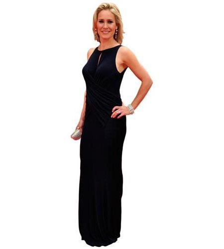 A Lifesize Cardboard Cutout of Sophie Raworth wearing a black gown