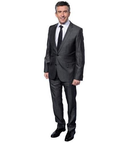 A Lifesize Cardboard Cutout of Steve Coogan wearing a suit