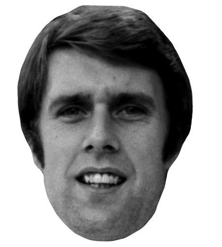 A Cardboard Celebrity Big Head of Geoff Hurst