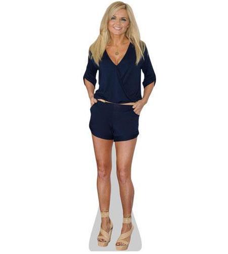 A Lifesize Cardboard Cutout of Geri Halliwell wearing black shorts