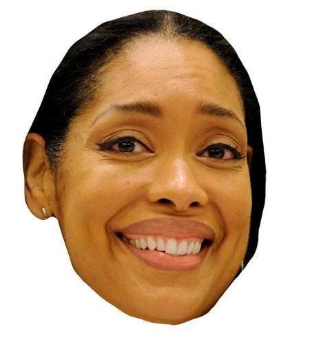A Cardboard Celebrity Big Head of Gina Torres