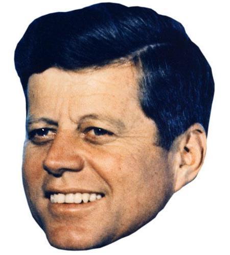 A Cardboard Celebrity Big Head of JFK