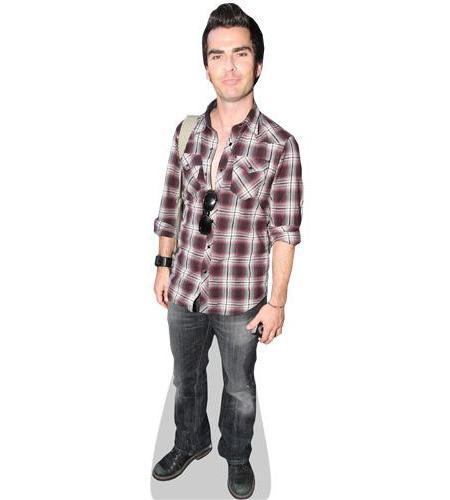 A Lifesize Cardboard Cutout of Kelly Jones wearing a shirt