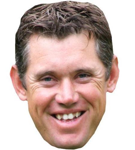 A Cardboard Celebrity Big Head of Lee Westwood