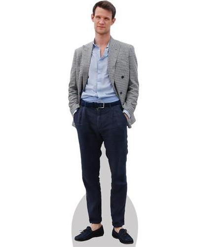 A Lifesize Cardboard Cutout of Matt Smith wearing a shirt