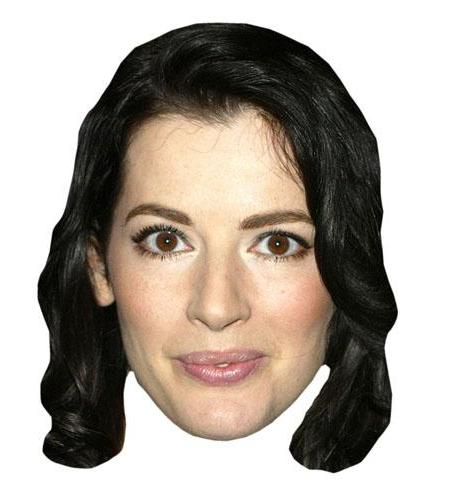A Cardboard Celebrity Big Head of Nigella Lawson