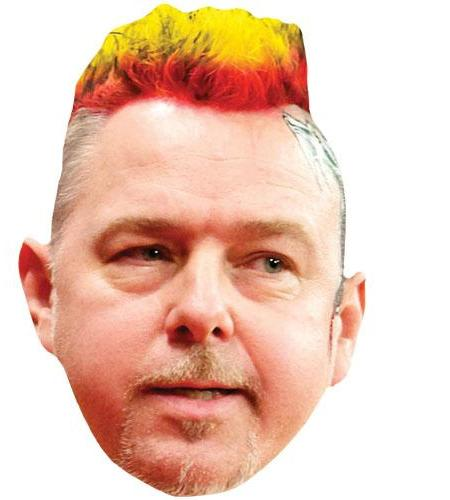 A Cardboard Celebrity Big Head of Peter Wright