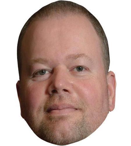 A Cardboard Celebrity Big Head of Ray Van Barneveld