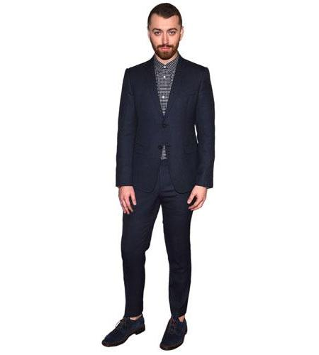A Lifesize Cardboard Cutout of Sam Smith wearing a suit