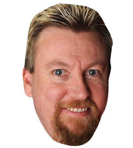 A Cardboard Celebrity Big Head of Simon Whitlock