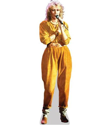 A Lifesize Cardboard Cutout of Agnetha Faltskog wearing a jumpsuit