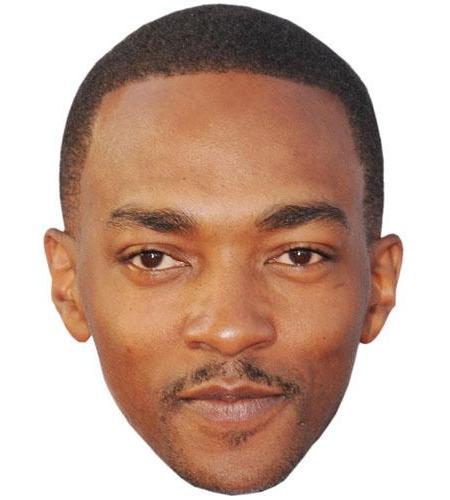 A Cardboard Celebrity Big Head of Anthony Mackie