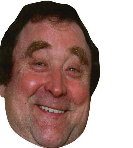 A Cardboard Celebrity Big Head of Bernard Manning