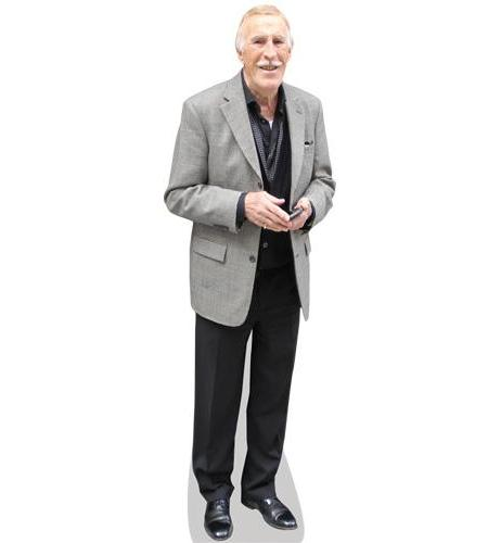 A Lifesize Cardboard Cutout of Bruce Forsyth wearing a grey jacket