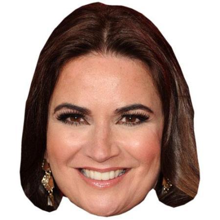 A Cardboard Celebrity Big Head of Debbie Rush