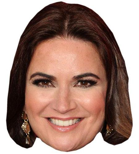 A Cardboard Celebrity Big Head of Debbie Rush