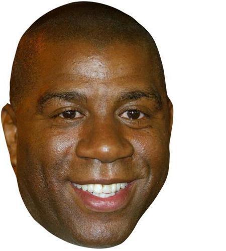A Cardboard Celebrity Big Head of Earvin Johnson
