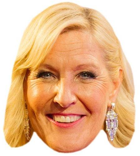A Cardboard Celebrity Big Head of Jennifer Gibney