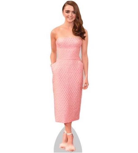 Maisie Williams Pink Dress Cardboard Cutout
