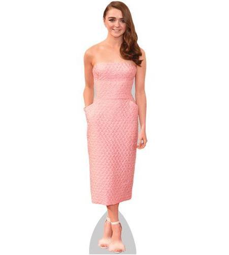 Maisie Williams Pink Dress Cardboard Cutout