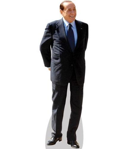 A Lifesize Cardboard Cutout of Silvio Berlusconi wearing a suit