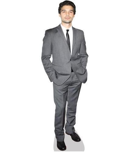 A Lifesize Cardboard Cutout of Steven Strait wearing a suit