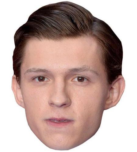 A Cardboard Celebrity Mask of Tom Holland