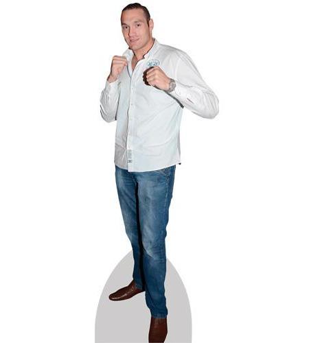 A Lifesize Cardboard Cutout of Tyson Fury wearing jeans