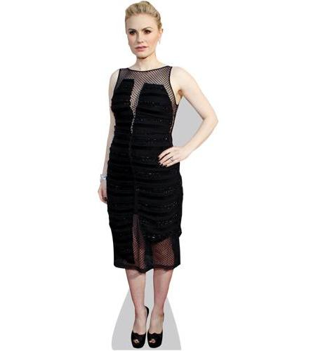A Lifesize Cardboard Cutout of Anna Paquin (Black Dress) wearing a black dress