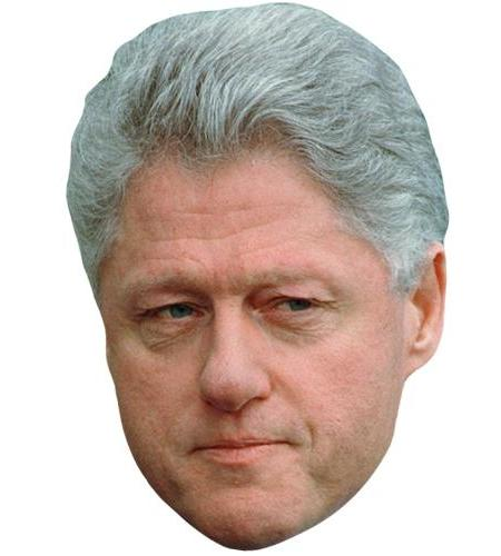 A Cardboard Celebrity Big Head of Bill Clinton