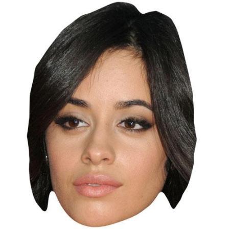 A Cardboard Celebrity Big Head of Camila Cabello