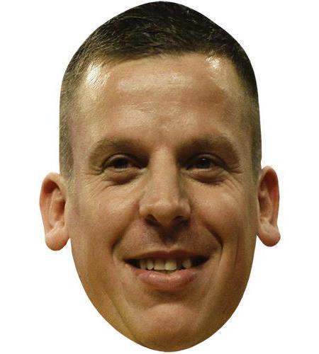 A Cardboard Celebrity Big Head of Dave Chisnall