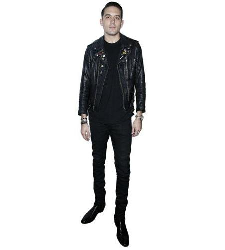 A Lifesize Cardboard Cutout of G-Eazy wearing jeans