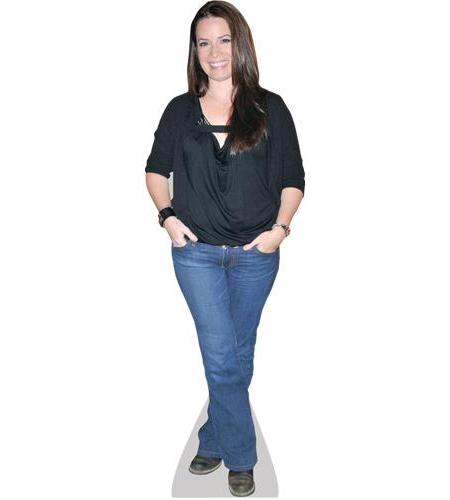 A Lifesize Cardboard Cutout of Holly Marie Combs wearing jeans