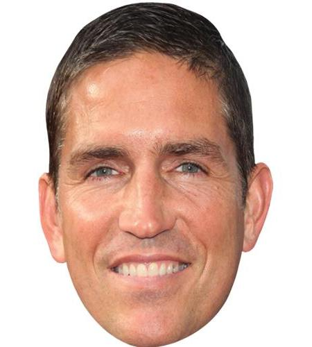 A Cardboard Celebrity Big Head of Jim Caviezel