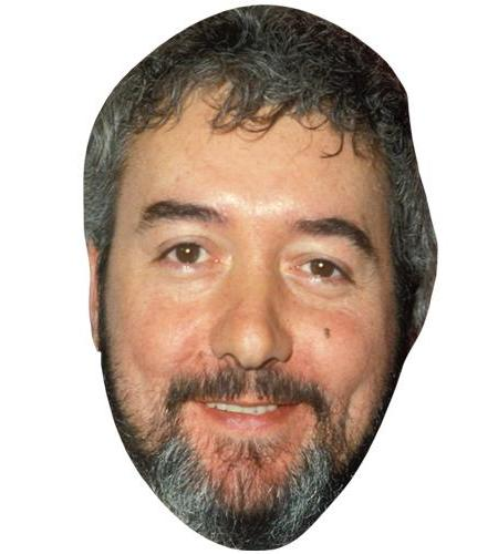 A Cardboard Celebrity Big Head of John Virgo