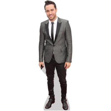 A Lifesize Cardboard Cutout of Pete Wentz wearing a suit