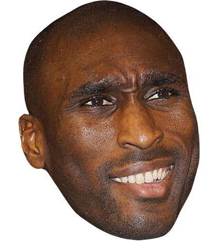 A Cardboard Celebrity Big Head of Sol Campbell