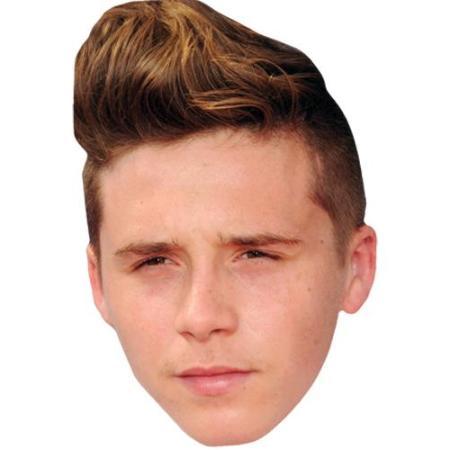 A Cardboard Celebrity Big Head of Brooklyn Beckham