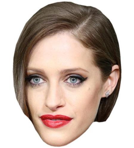 A Cardboard Celebrity Big Head of Carly Chaikin