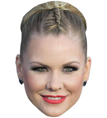 A Cardboard Celebrity Big Head of Carrie Keagan
